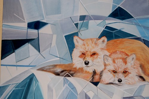 Foxes in wintertime